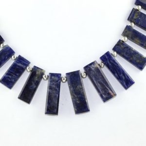Shop Sodalite Necklaces! Natural Sodalite Rectangle Shape Beads Sodalite Stone Blue Color Natural Stone faceted Necklace Stone Sodalite Stone Blue Sodalite Beads AAA | Natural genuine Sodalite necklaces. Buy crystal jewelry, handmade handcrafted artisan jewelry for women.  Unique handmade gift ideas. #jewelry #beadednecklaces #beadedjewelry #gift #shopping #handmadejewelry #fashion #style #product #necklaces #affiliate #ad