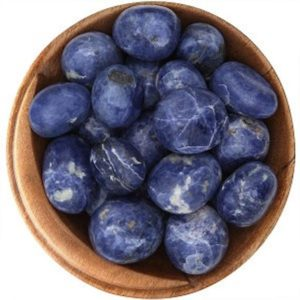 Shop Tumbled Sodalite Crystals & Pocket Stones! 1 Sodalite (peru) – Ethically Sourced Tumbled Stone | Natural genuine stones & crystals in various shapes & sizes. Buy raw cut, tumbled, or polished gemstones for making jewelry or crystal healing energy vibration raising reiki stones. #crystals #gemstones #crystalhealing #crystalsandgemstones #energyhealing #affiliate #ad