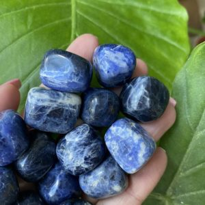 Shop Tumbled Sodalite Crystals & Pocket Stones! tumbled sodalite, sodalite , chakra stone | Natural genuine stones & crystals in various shapes & sizes. Buy raw cut, tumbled, or polished gemstones for making jewelry or crystal healing energy vibration raising reiki stones. #crystals #gemstones #crystalhealing #crystalsandgemstones #energyhealing #affiliate #ad