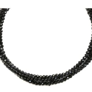 Shop Spinel Necklaces! Black Spinel Necklace 14k Gold Filled  3mm 18 Inch 4 Strands Faceted AAA Solid Beaded Natural Faceted Classic Simple Super Sparkly   Natural genuine Spinel necklaces. Buy crystal jewelry, handmade handcrafted artisan jewelry for women.  Unique handmade gift ideas. #jewelry #beadednecklaces #beadedjewelry #gift #shopping #handmadejewelry #fashion #style #product #necklaces #affiliate #ad