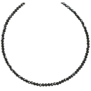 Shop Spinel Necklaces! Black Spinel Necklace Sterling Silver or 14k Gold Filled  3mm 18 19 Inch Faceted AAA Solid Beaded Strand Natural Faceted Classic Simple   Natural genuine Spinel necklaces. Buy crystal jewelry, handmade handcrafted artisan jewelry for women.  Unique handmade gift ideas. #jewelry #beadednecklaces #beadedjewelry #gift #shopping #handmadejewelry #fashion #style #product #necklaces #affiliate #ad