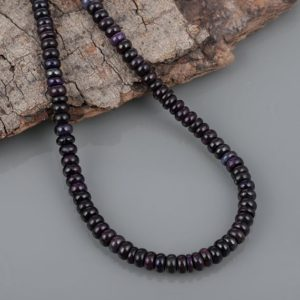 Shop Sugilite Necklaces! Sugilite Necklace Plain Rondelle Necklace Birthday Party Necklace Anniversary gift Sugilite Gemstone Beaded Necklace Gift For Girl Friend | Natural genuine Sugilite necklaces. Buy crystal jewelry, handmade handcrafted artisan jewelry for women.  Unique handmade gift ideas. #jewelry #beadednecklaces #beadedjewelry #gift #shopping #handmadejewelry #fashion #style #product #necklaces #affiliate #ad