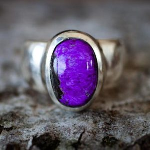 Shop Sugilite Rings! Sugilite Ring 6.5 – Sugilite and Sterling Silver ring – Suglite Jewelry – Sugilite ring Ring Size 6.5 Sterling Silver Sugilite Ring Suglite   Natural genuine Sugilite rings, simple unique handcrafted gemstone rings. #rings #jewelry #shopping #gift #handmade #fashion #style #affiliate #ad