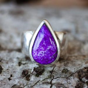 Shop Sugilite Rings! Sugilite Ring 7 – Sugilite and Sterling Silver ring – Suglite Jewelry – Sugilite ring – Ring Size 7 – Sterling Silver Sugilite Ring Suglite   Natural genuine Sugilite rings, simple unique handcrafted gemstone rings. #rings #jewelry #shopping #gift #handmade #fashion #style #affiliate #ad