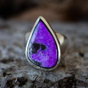 Shop Sugilite Rings! Sugilite Ring size 9 – Sugilite and Manganese ring Size 9 – Suglite and Manganese Ring Size 9- Sugilite ring – Ring Size 9 – Sugilite Ring   Natural genuine Sugilite rings, simple unique handcrafted gemstone rings. #rings #jewelry #shopping #gift #handmade #fashion #style #affiliate #ad