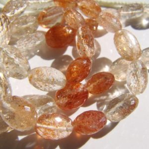 Oregon Sunstone Ovals • Aaa Micro Faceted Oval Nuggets • Natural Genuine Gemstone Beads • Shaded Orange Copper Gold Schiller | Natural genuine beads Gemstone beads for beading and jewelry making.  #jewelry #beads #beadedjewelry #diyjewelry #jewelrymaking #beadstore #beading #affiliate #ad
