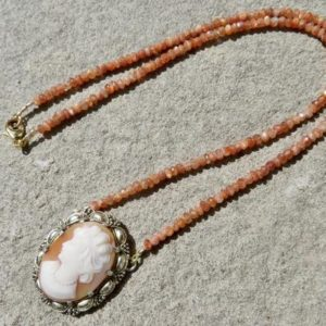 Shop Sunstone Necklaces! Theodor Fahrner Jewelry, Cameo Necklace, Sunstone Necklace   Natural genuine Sunstone necklaces. Buy crystal jewelry, handmade handcrafted artisan jewelry for women.  Unique handmade gift ideas. #jewelry #beadednecklaces #beadedjewelry #gift #shopping #handmadejewelry #fashion #style #product #necklaces #affiliate #ad