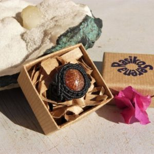 Shop Sunstone Rings! Sunstone Ring Energy Healing Crystal Jewelry One of a Kind Gift for Her, Macrame Natural Stone Ring. | Natural genuine Sunstone rings, simple unique handcrafted gemstone rings. #rings #jewelry #shopping #gift #handmade #fashion #style #affiliate #ad