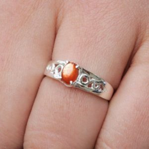 Shop Sunstone Rings! Sunstone ring, Natural Gemstone jewelry, 925 sterling silver,  Gift for her, Stackable Ring, Anniversary gift, Power Stone, wedding jewelry | Natural genuine Sunstone rings, simple unique alternative gemstone engagement rings. #rings #jewelry #bridal #wedding #jewelryaccessories #engagementrings #weddingideas #affiliate #ad