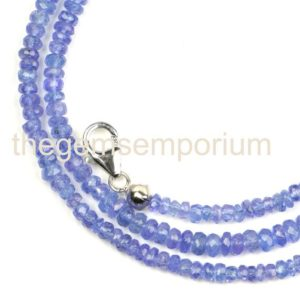 Shop Tanzanite Necklaces! Tanzanite Faceted Rondelle Necklace, Tanzanite Faceted Beads, Tanzanite Faceted Rondelle Beads, Tanzanite Beads, Tanzanite, Tanzanite Neck | Natural genuine Tanzanite necklaces. Buy crystal jewelry, handmade handcrafted artisan jewelry for women.  Unique handmade gift ideas. #jewelry #beadednecklaces #beadedjewelry #gift #shopping #handmadejewelry #fashion #style #product #necklaces #affiliate #ad