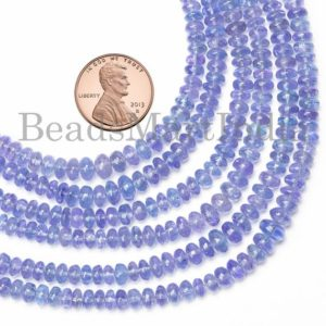 Shop Tanzanite Rondelle Beads! Natural Tanzanite Beads, Tanzanite Smooth Beads, Tanzanite Rondelle Beads, Tanzanite Gemstone Beads, Tanzanite Smooth Rondelle Shape Beads   Natural genuine rondelle Tanzanite beads for beading and jewelry making.  #jewelry #beads #beadedjewelry #diyjewelry #jewelrymaking #beadstore #beading #affiliate #ad