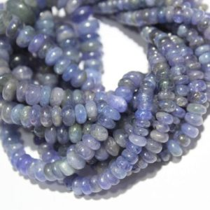 """Shop Tanzanite Rondelle Beads! Natural Tanzanite Smooth Rondelle Beads/Natural Tanzanite Rondelle Beads/Tanzanite Gemstone Rondelles/Size 4.5mm to 8.5mm 18"""" Inches Strand   Natural genuine rondelle Tanzanite beads for beading and jewelry making.  #jewelry #beads #beadedjewelry #diyjewelry #jewelrymaking #beadstore #beading #affiliate #ad"""