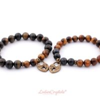 Couple Tiger Eye Bracelets, Matching Couples Bracelets, Tiger Eye Anniversary Couple Bracelet, Beaded Bracelets, Meditation Bracelet | Natural genuine Gemstone jewelry. Buy crystal jewelry, handmade handcrafted artisan jewelry for women.  Unique handmade gift ideas. #jewelry #beadedjewelry #beadedjewelry #gift #shopping #handmadejewelry #fashion #style #product #jewelry #affiliate #ad