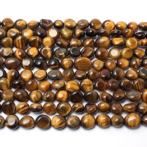 Shop Tiger Eye Chip & Nugget Beads! Yellow Tigers Eye Beads, Natural Gemstone Beads, Nugget Beads, 8-10mm 15'' | Natural genuine chip Tiger Eye beads for beading and jewelry making.  #jewelry #beads #beadedjewelry #diyjewelry #jewelrymaking #beadstore #beading #affiliate #ad