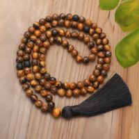 108 Prayer Mala Beads Necklace-healing Tiger Eye Tassel Necklace-gemstone Healing Meditation Protection Stress Relief Yoga Necklace | Natural genuine Gemstone jewelry. Buy crystal jewelry, handmade handcrafted artisan jewelry for women.  Unique handmade gift ideas. #jewelry #beadedjewelry #beadedjewelry #gift #shopping #handmadejewelry #fashion #style #product #jewelry #affiliate #ad