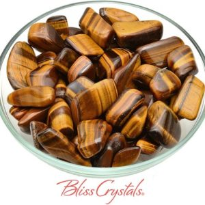 Shop Tumbled Tiger Eye Crystals & Pocket Stones! 1 Gold Tiger's Eye Tumbled Stones for Courage #GT23 | Natural genuine stones & crystals in various shapes & sizes. Buy raw cut, tumbled, or polished gemstones for making jewelry or crystal healing energy vibration raising reiki stones. #crystals #gemstones #crystalhealing #crystalsandgemstones #energyhealing #affiliate #ad