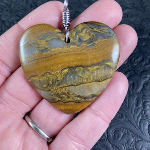 Shop Tiger Iron Pendants! Heart Shaped Tiger Iron Stone Jewelry Pendant | Natural genuine Tiger Iron pendants. Buy crystal jewelry, handmade handcrafted artisan jewelry for women.  Unique handmade gift ideas. #jewelry #beadedpendants #beadedjewelry #gift #shopping #handmadejewelry #fashion #style #product #pendants #affiliate #ad