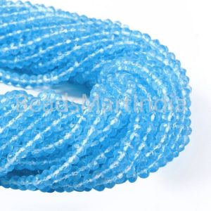 Shop Topaz Beads! Sky Blue Topaz Quartz Faceted Rondelle Beads, Blue Topaz Rondelle Beads, Blue Quartz Beads, Sky Blue Topaz Faceted Beads, Blue Quartz Beads | Natural genuine beads Topaz beads for beading and jewelry making.  #jewelry #beads #beadedjewelry #diyjewelry #jewelrymaking #beadstore #beading #affiliate #ad