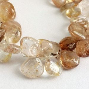 Shop Topaz Bead Shapes! 10-13mm Imperial Topaz Plain Heart Beads, Golden Champagne Topaz Heart Briolettes, Imperial Topaz For Jewelry , 10 Pcs – KS183 | Natural genuine other-shape Topaz beads for beading and jewelry making.  #jewelry #beads #beadedjewelry #diyjewelry #jewelrymaking #beadstore #beading #affiliate #ad