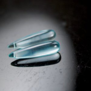 Shop Topaz Bead Shapes! Gorgeous sky blue topaz colored matching long drops | Natural genuine other-shape Topaz beads for beading and jewelry making.  #jewelry #beads #beadedjewelry #diyjewelry #jewelrymaking #beadstore #beading #affiliate #ad