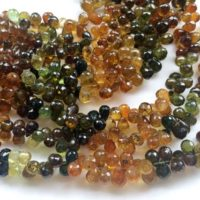 4×6-5x7mm Petro Tourmaline Faceted Teardrops, Green And Yellow Tourmaline Beads, Petro Tourmaline For Necklace, (2in To 8in Options) – Aga52 | Natural genuine Gemstone jewelry. Buy crystal jewelry, handmade handcrafted artisan jewelry for women.  Unique handmade gift ideas. #jewelry #beadedjewelry #beadedjewelry #gift #shopping #handmadejewelry #fashion #style #product #jewelry #affiliate #ad