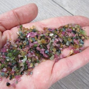 Shop Tourmaline Stones & Crystals! Mini Multi Tourmaline Tumbled Stone Small Bag T173 | Natural genuine stones & crystals in various shapes & sizes. Buy raw cut, tumbled, or polished gemstones for making jewelry or crystal healing energy vibration raising reiki stones. #crystals #gemstones #crystalhealing #crystalsandgemstones #energyhealing #affiliate #ad