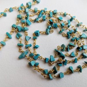 Shop Turquoise Chip & Nugget Beads! 3-5mm Turquoise Wire Wrapped Chip Beads, Chinese Turquoise Rosary Bead Chain, 925 Silver Turquoise For Necklace (1Foot To 5Feet Options)   Natural genuine chip Turquoise beads for beading and jewelry making.  #jewelry #beads #beadedjewelry #diyjewelry #jewelrymaking #beadstore #beading #affiliate #ad
