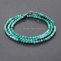 Natural Turquoise Beaded Necklace, 3mm Turquoise Micro Faceted Beads Necklace, Shaded Aaa++ Turquoise Beads, Elegant- Women- Party Necklace | Natural genuine Gemstone jewelry. Buy crystal jewelry, handmade handcrafted artisan jewelry for women.  Unique handmade gift ideas. #jewelry #beadedjewelry #beadedjewelry #gift #shopping #handmadejewelry #fashion #style #product #jewelry #affiliate #ad