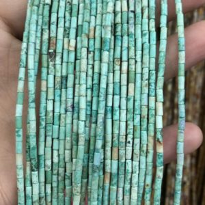 2x4mm Turquoise Tube Beads, Natural Gemstone Beads, Spacer Stone Beads For Jewelry Making 15''   Natural genuine other-shape Gemstone beads for beading and jewelry making.  #jewelry #beads #beadedjewelry #diyjewelry #jewelrymaking #beadstore #beading #affiliate #ad