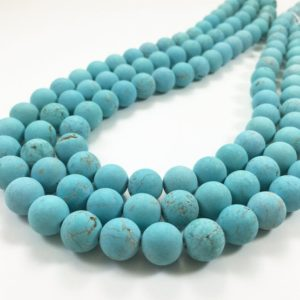 Shop Turquoise Bead Shapes! 8mm Matte Blue Turquoise Beads, Turquoise Gemstones, Gemstones Beads   Natural genuine other-shape Turquoise beads for beading and jewelry making.  #jewelry #beads #beadedjewelry #diyjewelry #jewelrymaking #beadstore #beading #affiliate #ad