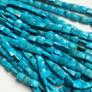 Shop Turquoise Bead Shapes! 9mm Turquoise Chewing Gum Cut Beads, Chinese Turquoise Rectangle Beads, Turquoise For Necklace (4IN To 8IN Options) – AGA72   Natural genuine other-shape Turquoise beads for beading and jewelry making.  #jewelry #beads #beadedjewelry #diyjewelry #jewelrymaking #beadstore #beading #affiliate #ad
