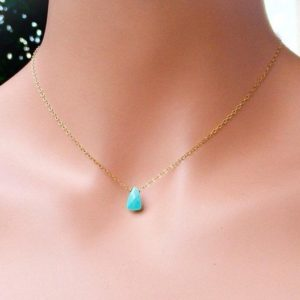 Shop Turquoise Pendants! Sale Tiny blue pendant, Turquoise Necklace, Sleeping Beauty, gold fill jewelry, December birthday stone   Natural genuine Turquoise pendants. Buy crystal jewelry, handmade handcrafted artisan jewelry for women.  Unique handmade gift ideas. #jewelry #beadedpendants #beadedjewelry #gift #shopping #handmadejewelry #fashion #style #product #pendants #affiliate #ad