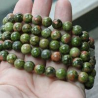 Unakite 8 Mm Round Stretchy String Bracelet G127   Natural genuine Gemstone jewelry. Buy crystal jewelry, handmade handcrafted artisan jewelry for women.  Unique handmade gift ideas. #jewelry #beadedjewelry #beadedjewelry #gift #shopping #handmadejewelry #fashion #style #product #jewelry #affiliate #ad