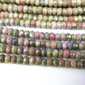Shop Faceted Gemstone Beads! unakite faceted rondelle beads – green gemstone beads – faceted gemstone beads – quality gemstone beads – wholesale beads and charms -15inch | Natural genuine faceted Gemstone beads for beading and jewelry making.  #jewelry #beads #beadedjewelry #diyjewelry #jewelrymaking #beadstore #beading #affiliate #ad