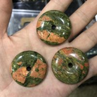 Unakite Donut Pendant Beads, Natural Gemstone Beads, 30mm 35mm Pendant 1pc   Natural genuine Gemstone jewelry. Buy crystal jewelry, handmade handcrafted artisan jewelry for women.  Unique handmade gift ideas. #jewelry #beadedjewelry #beadedjewelry #gift #shopping #handmadejewelry #fashion #style #product #jewelry #affiliate #ad
