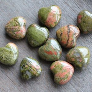 Shop Stone Spheres, Hearts & Other Shapes! Unakite Shaped Heart K220   Natural genuine stones & crystals in various shapes & sizes. Buy raw cut, tumbled, or polished gemstones for making jewelry or crystal healing energy vibration raising reiki stones. #crystals #gemstones #crystalhealing #crystalsandgemstones #energyhealing #affiliate #ad