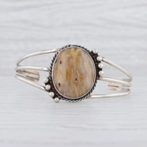 """Shop Petrified Wood Bracelets! Vintage Cuff Bracelet, Native American Bracelet, Petrified Palm Wood Bracelet, Cuff Bracelet, Silver Cuff Bracelet, 6.75"""" Cuff Bracelet   Natural genuine Petrified Wood bracelets. Buy crystal jewelry, handmade handcrafted artisan jewelry for women.  Unique handmade gift ideas. #jewelry #beadedbracelets #beadedjewelry #gift #shopping #handmadejewelry #fashion #style #product #bracelets #affiliate #ad"""