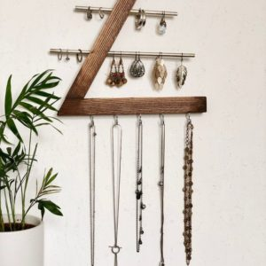 Shop Jewelry Organizers & Earring Racks! Wooden Jewelry Organizer | Wall Mounted | Jewelry Box | Jewelry Stand | Shop jewelry making and beading supplies, tools & findings for DIY jewelry making and crafts. #jewelrymaking #diyjewelry #jewelrycrafts #jewelrysupplies #beading #affiliate #ad