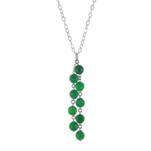 Shop Agate Pendants! Green Necklace, Emerald Green Agate Chandelier Silver Pendant, Anniversary Gift   Natural genuine Agate pendants. Buy crystal jewelry, handmade handcrafted artisan jewelry for women.  Unique handmade gift ideas. #jewelry #beadedpendants #beadedjewelry #gift #shopping #handmadejewelry #fashion #style #product #pendants #affiliate #ad