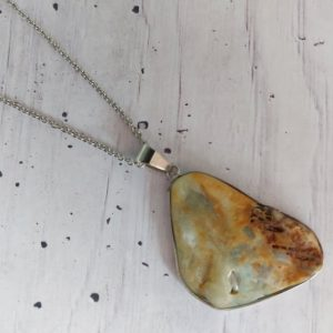 Shop Amazonite Necklaces! Amazonite necklace, raw amazonite, natural stone, worry stone, best friend gifts, healing stones, raw crystal, protection, stone, chakra, 2 | Natural genuine Amazonite necklaces. Buy crystal jewelry, handmade handcrafted artisan jewelry for women.  Unique handmade gift ideas. #jewelry #beadednecklaces #beadedjewelry #gift #shopping #handmadejewelry #fashion #style #product #necklaces #affiliate #ad