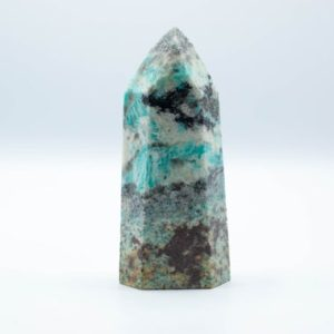Shop Amazonite Points & Wands! Amazonite Tower // Polished Amazonite // Metaphysical Stone // Village Silversmith | Natural genuine stones & crystals in various shapes & sizes. Buy raw cut, tumbled, or polished gemstones for making jewelry or crystal healing energy vibration raising reiki stones. #crystals #gemstones #crystalhealing #crystalsandgemstones #energyhealing #affiliate #ad