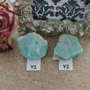Shop Raw & Rough Amazonite Stones! Amazonite Crystal from Colorado, Amazonite Specimen, Feldspar | Natural genuine stones & crystals in various shapes & sizes. Buy raw cut, tumbled, or polished gemstones for making jewelry or crystal healing energy vibration raising reiki stones. #crystals #gemstones #crystalhealing #crystalsandgemstones #energyhealing #affiliate #ad