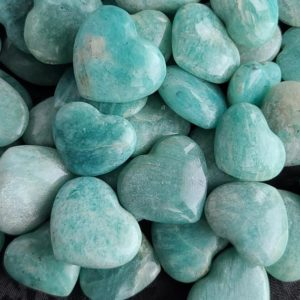 Shop Tumbled Amazonite Crystals & Pocket Stones! Amazonite Hearts, Small Green Crystal Heart Tumbled Stone For Wire Wrapping, Jewelry Making, Or Crystal Grids | Natural genuine stones & crystals in various shapes & sizes. Buy raw cut, tumbled, or polished gemstones for making jewelry or crystal healing energy vibration raising reiki stones. #crystals #gemstones #crystalhealing #crystalsandgemstones #energyhealing #affiliate #ad