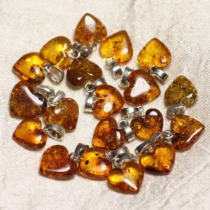 Shop Amber Pendants! 1pc – amber pendant natural Silver 925 heart 12-14mm – 8741140017856 bail | Natural genuine Amber pendants. Buy crystal jewelry, handmade handcrafted artisan jewelry for women.  Unique handmade gift ideas. #jewelry #beadedpendants #beadedjewelry #gift #shopping #handmadejewelry #fashion #style #product #pendants #affiliate #ad