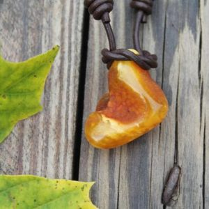 Shop Amber Pendants! Hunter Pendant Raw Baltic Amber Necklace Tribal Dude Dad Gift Earthy Colors Charm Pagan Healing Amber Mens Jewelry Neolithic | Natural genuine Amber pendants. Buy handcrafted artisan men's jewelry, gifts for men.  Unique handmade mens fashion accessories. #jewelry #beadedpendants #beadedjewelry #shopping #gift #handmadejewelry #pendants #affiliate #ad