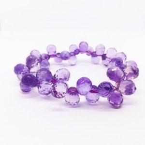 Shop Amethyst Bracelets! Amethyst Bracelet, February Birthday, AAA Amethyst Teardrops, Birthstone Jewelry, 6th 9th Anniversary, valentines day gift, Pisces Bracelet | Natural genuine Amethyst bracelets. Buy crystal jewelry, handmade handcrafted artisan jewelry for women.  Unique handmade gift ideas. #jewelry #beadedbracelets #beadedjewelry #gift #shopping #handmadejewelry #fashion #style #product #bracelets #affiliate #ad