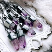 Big Veracruz Amethyst Necklace, Mexican Amethyst Necklace | Natural genuine Gemstone jewelry. Buy crystal jewelry, handmade handcrafted artisan jewelry for women.  Unique handmade gift ideas. #jewelry #beadedjewelry #beadedjewelry #gift #shopping #handmadejewelry #fashion #style #product #jewelry #affiliate #ad