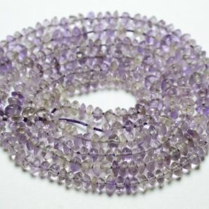 Shop Amethyst Rondelle Beads! 13.5 Inches Strand Natural Amethyst Rondelles 3.5mm To 4.5mm Smooth Rondelle Gemstone Beads Superb Amethyst Beads No4555   Natural genuine rondelle Amethyst beads for beading and jewelry making.  #jewelry #beads #beadedjewelry #diyjewelry #jewelrymaking #beadstore #beading #affiliate #ad