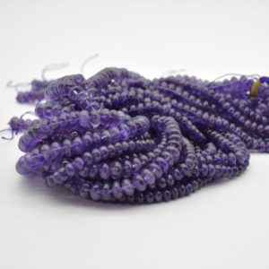"""Shop Amethyst Rondelle Beads! High Quality Grade A Natural Amethyst Semi-precious Gemstone Rondelle / Spacer Beads – 6mm, 8mm sizes – 15.5"""" strand   Natural genuine rondelle Amethyst beads for beading and jewelry making.  #jewelry #beads #beadedjewelry #diyjewelry #jewelrymaking #beadstore #beading #affiliate #ad"""
