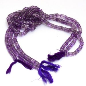 Shop Amethyst Rondelle Beads! Natural Amethyst Gemstone Heishi Beads   7mm-8mm Tyre Rondelle 13inch Strand   Amethyst Semi Precious Gemstone Coin Loose Bead   AAA Quality   Natural genuine rondelle Amethyst beads for beading and jewelry making.  #jewelry #beads #beadedjewelry #diyjewelry #jewelrymaking #beadstore #beading #affiliate #ad